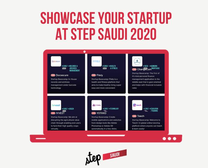 Showcase your startup at Step Saudi 2020 🌟