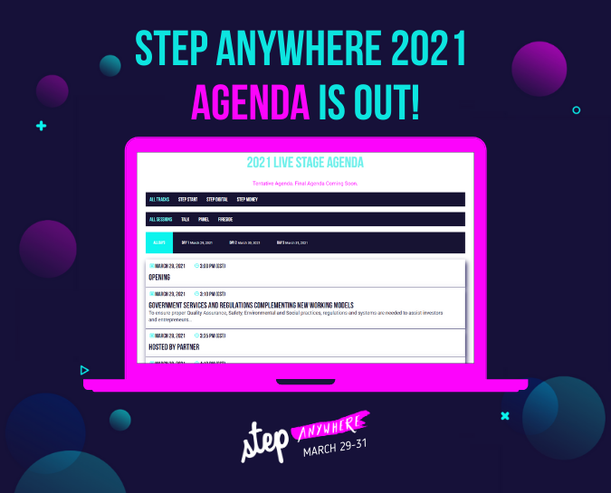 Step Anywhere 2021 Agenda is out!