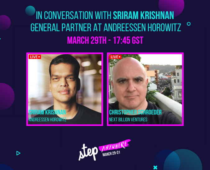Sriram Krishnan is joining Step Anywhere 2021!